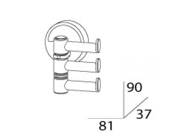 Держатель полотенец поворотный тройной FBS ELLEA ELL 047