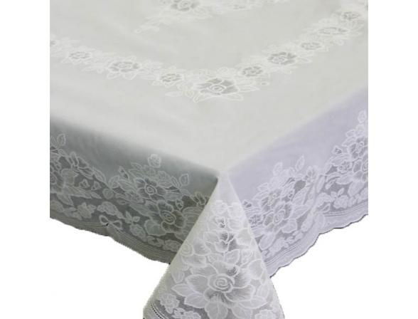 Скатерть ажурная Towa ELLENA/R 120х150 см белый