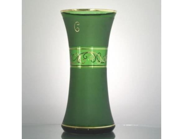 Ваза Crystal Art 30 см, 50903 (темно-зеленый)