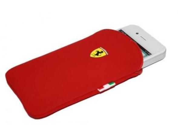 Чехол Ferrari для iPhone 4/4s Scuderia V1 (красный)
