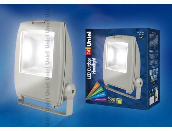 Прожектор Uniel ULF-S02-50W/NW IP65 110-240В GREY