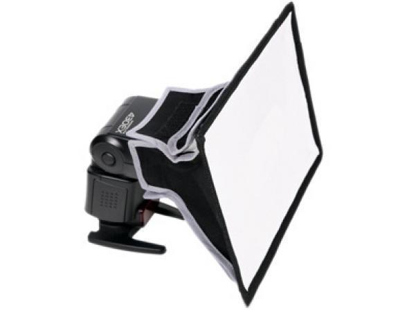 Софтбокс GRIFON SB1520 для накамерных фотовспышек (крепление-лента) 15х20см