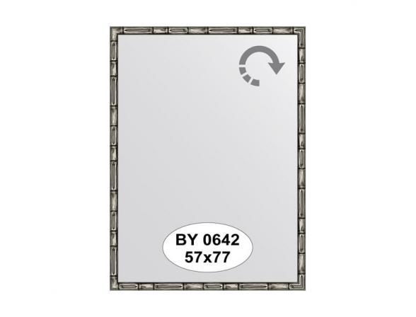 Зеркало в багетной раме EVOFORM серебро/бамбук (57х77 см) BY 0642