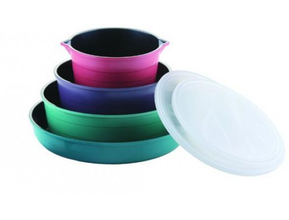 Набор посуды FRYBEST с керамическим покрытием Splend (темное внутреннее покрытие)