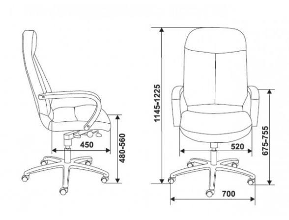 Кресло руководителя BURO 741/Dblack