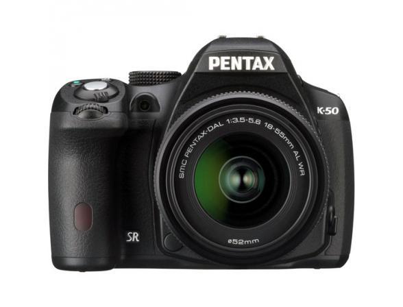 Зеркальный фотоаппарат Pentax K-50 + DA L 18-55 WR+DA L 50-200 WR Kit*