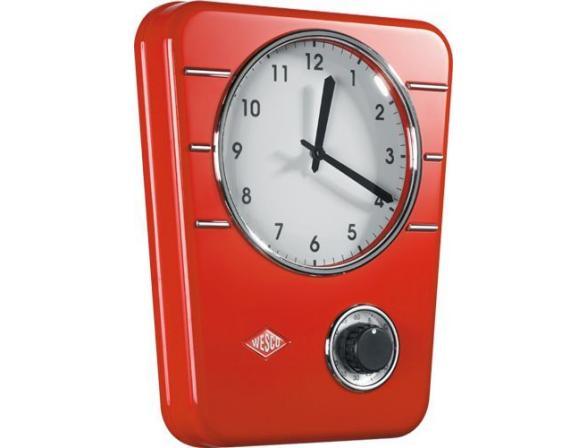 Кухонные часы с таймером Wesco RETRO STYLE 322401-02