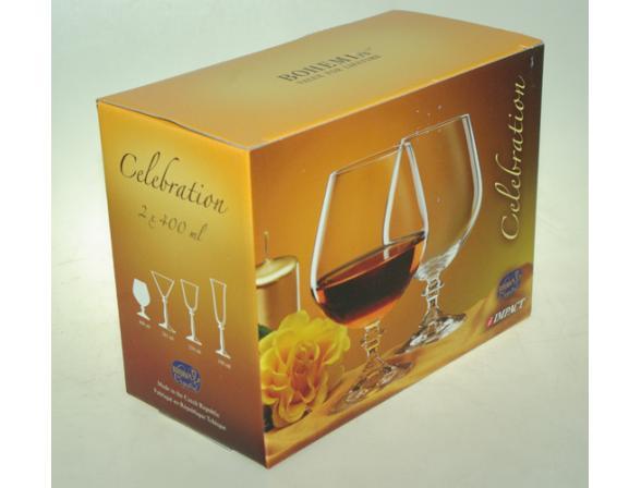 Набор бокалов для коньяка Bohemia Crystall Celebration*2/400