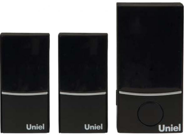 Звонок беспроводной Uniel UDB-090W-R1T2-32S-100M-BL