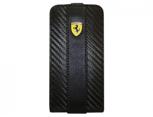Чехол Ferrari для iPhone 4/4s Etui Flap Challenge (черный)