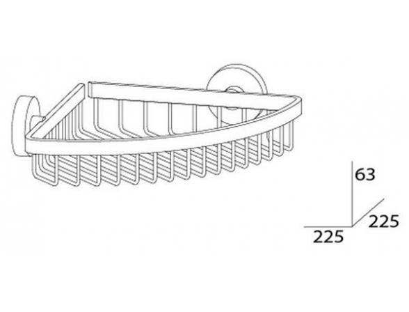 Полочка-решетка угловая ARTWELLE HARMONIA 20 см HAR 021