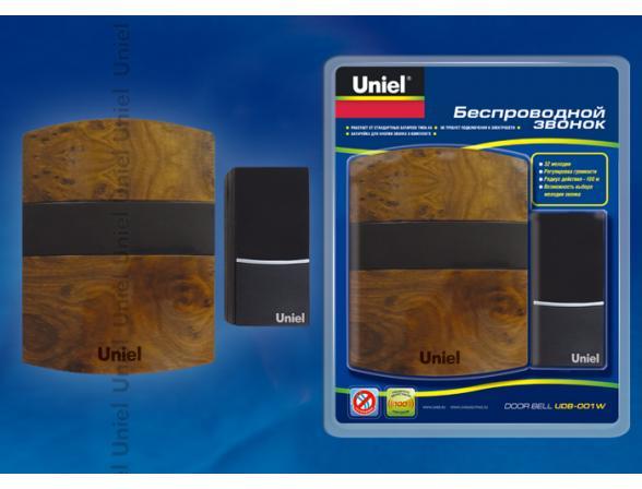 Звонок беспроводной Uniel UDB-001W-R1T1-32S-100M-KB