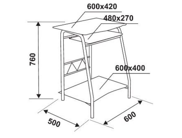 Стол компьютерный FY GD-005/White