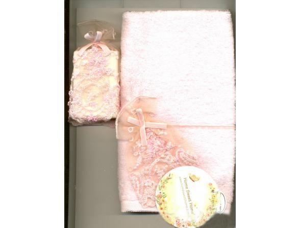 Полотенце+ мыло HSH New Elit + мыло 30х50