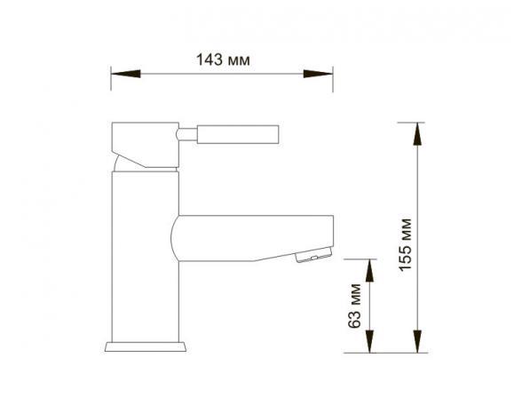Смеситель для умывальника WasserKRAFT Main 4103