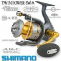 Катушка с передним фрикционом Shimano TWIN POWER 8000 SW-A