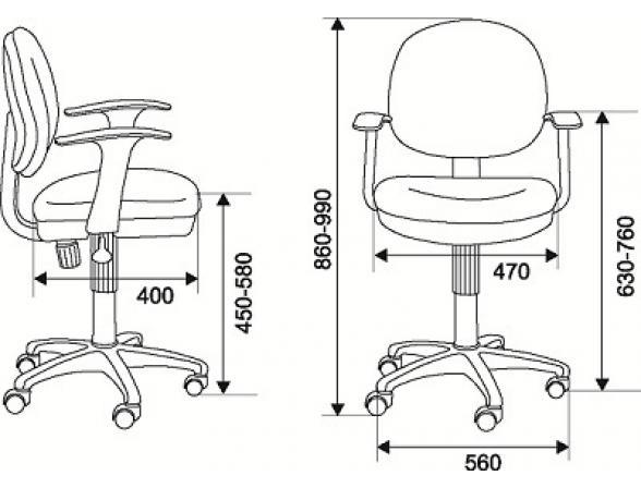 Кресло BURO CH-356AXSN/Ch