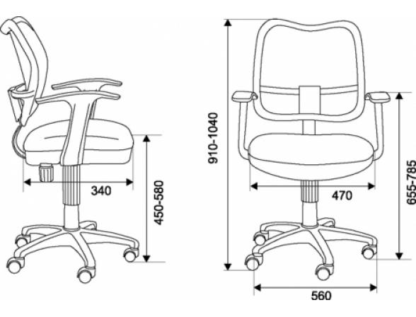 Кресло BURO CH-799AXSN/Grey