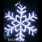 Снежинка светодиодная Rich LED акриловая, 70 см, цвет: белый