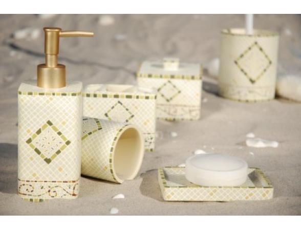 Набор для ванной Centrplus LIVORNO GREEN, 6 предметов