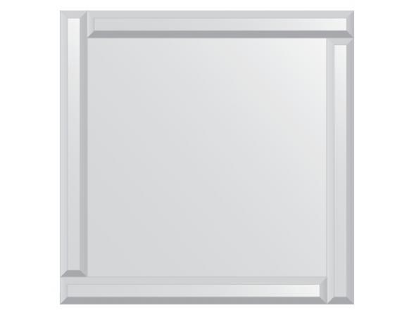 Зеркало с зеркальным обрамлением EVOFORM Style (60х60 см) BY 0805