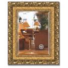 Зеркало в багетной раме EVOFORM виньетка бронзовая (46х56см) BY 1372