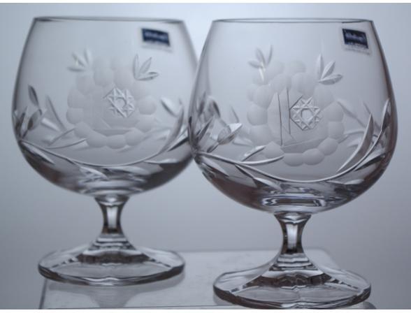 Набор бокалов для бренди Crystalite Bohemia 250 млх2 шт. 21009 Афр. Роза