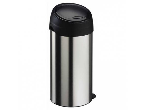 Бак для мусора Meliconi 60 л, матовый стальной