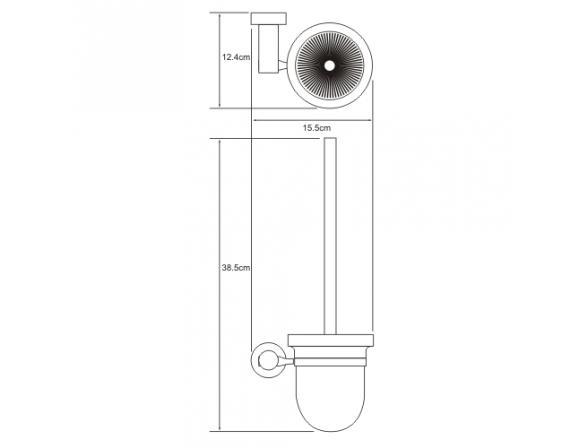 Щетка для унитаза WasserKRAFT Donau K-9427C, керамика