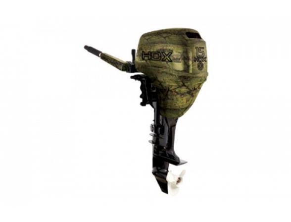 Лодочный мотор HDX 2-х тактный T 15 BMS, камуфляж - лес