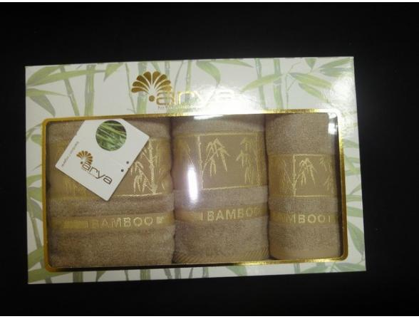 Комплект полотенец FAKILI Бамбук 3 пр. 30х50 50х90 70х140