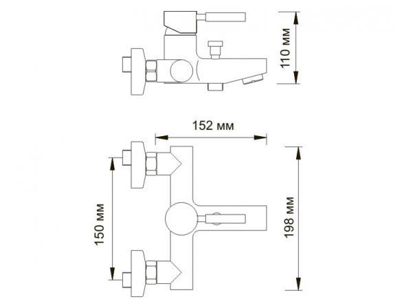 Смеситель для ванны с коротким изливом WasserKRAFT Main 4101