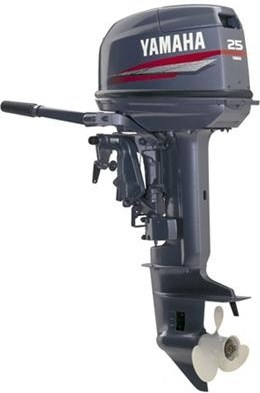 Двухтактный лодочный мотор Yamaha 25NMHO.