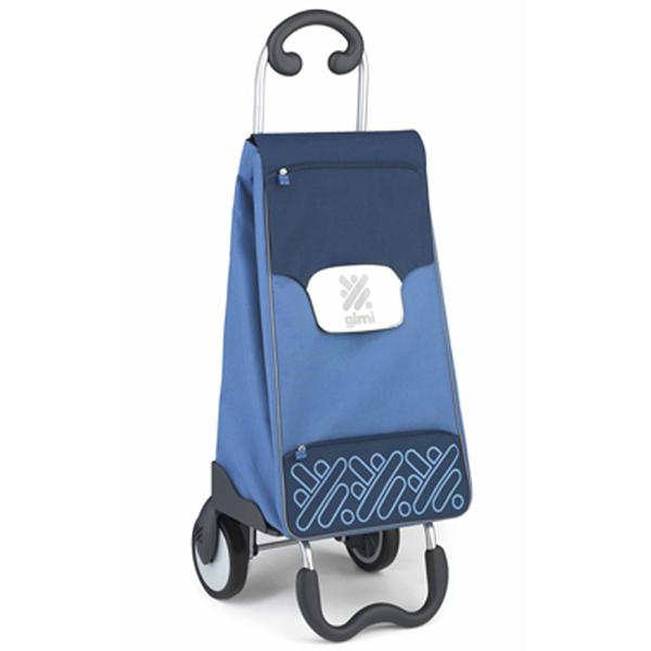Сумка-Тележка Gimi My Porter голубая хозяйственная на колесиках.  Постельное бельё и принадлежности для сна.