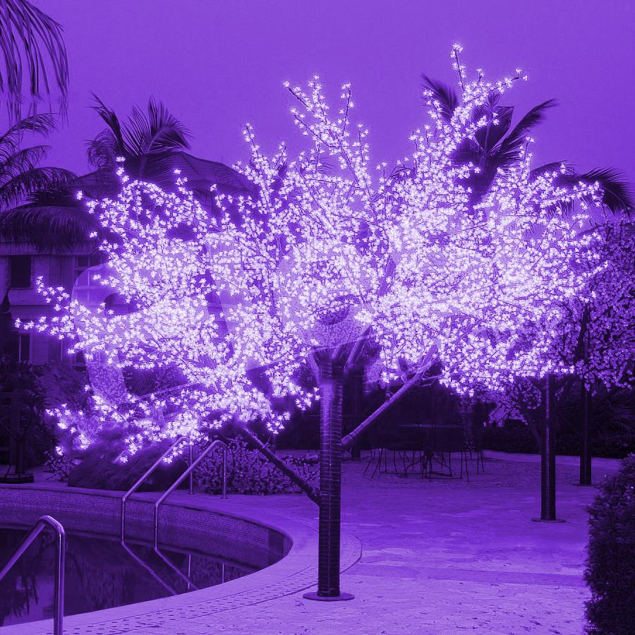 Светодиодное дерево для улицы своими руками