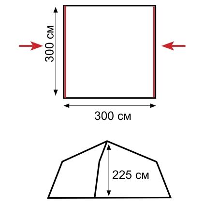 Схема.  Внимание.  Данная палатка...  Установка.  Технология.  Инструкция.  Выбор места для установки...
